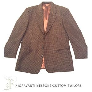 Fioravanti Soft Tweed Gold Houndstooth Blazer